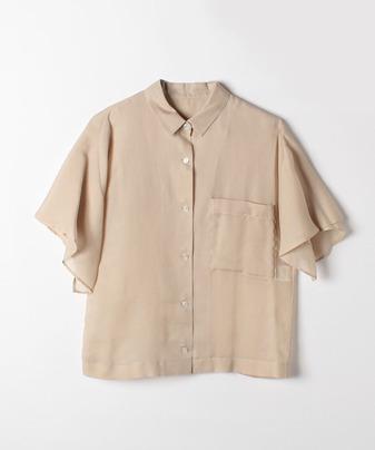 ソフトツイルバックフレアーシャツ