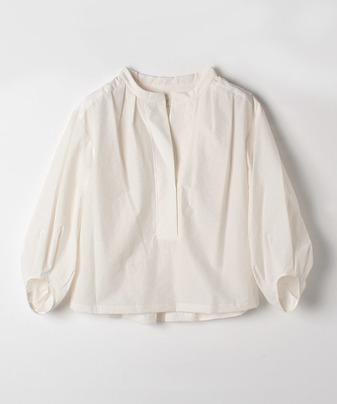 コットンナイロンスタンドカラーシャツ