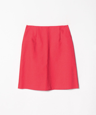 コットンダブルクロス台形スカート