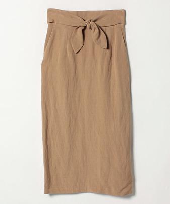 【Loulou Willoughby】レーヨンアサポプリンリボンツキスカート