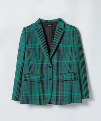 【セットアップ対応商品】カラーチェックテーラードジャケット