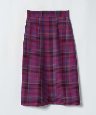 【セットアップ対応商品】カラーチェックナロースカート