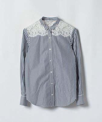ストライプレースシャツ