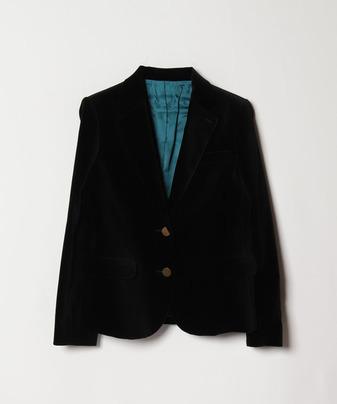 メタルボタンベルベットジャケット