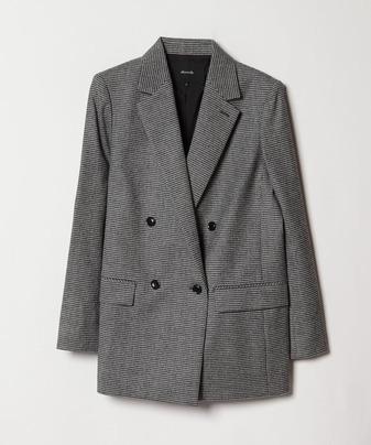 【セットアップ対応商品】グレンチェックダブルジャケット