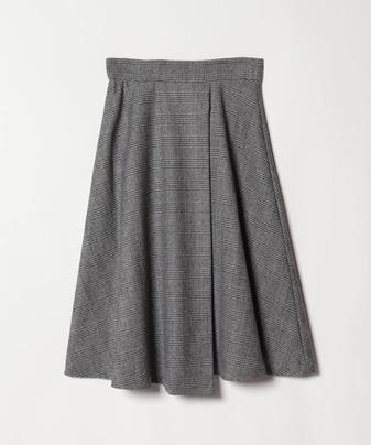 【セットアップ対応商品】フラノストレッチラップフレアースカート