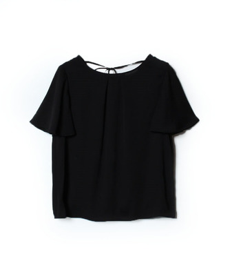 【Loulou Willoughby】バックサテンジョーゼットハイショクブラウス