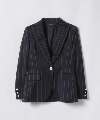 【セットアップ対応商品】ドビーストライプテーラードジャケット
