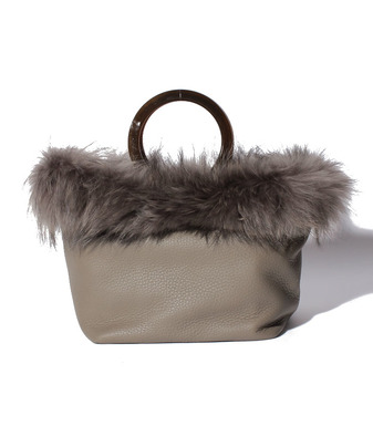 VIOLA FUR TRIM BAG