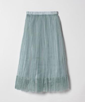 シルクオーガンジープリーツスカート