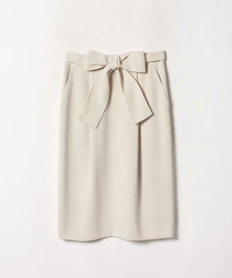ダブルクロスリボンタックタイトスカート