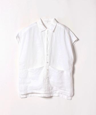 フレンチリネンフレンチスリーブシャツ