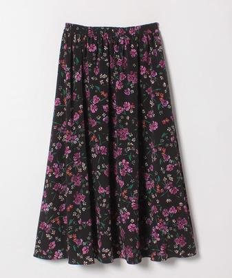コバナプリントギャザースカート