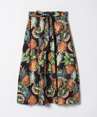ランダムパイン前ボタンスカート