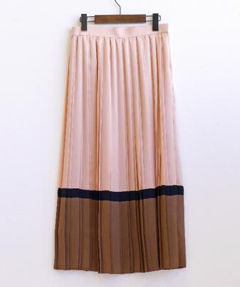 サテンハイショクプリーツスカート