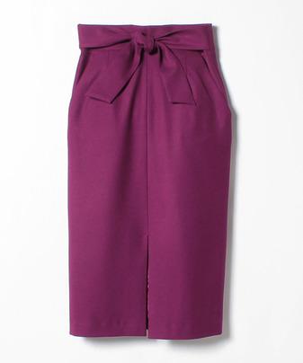 TRツイルフロントスリットタイトスカート