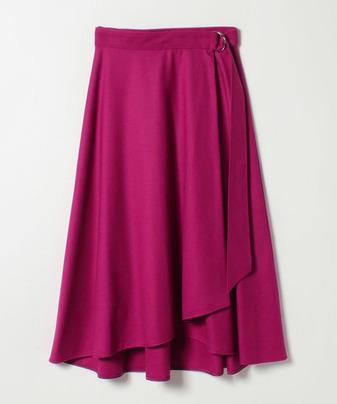 【Loulou Willoughby】サキソニーフレアラップスカート