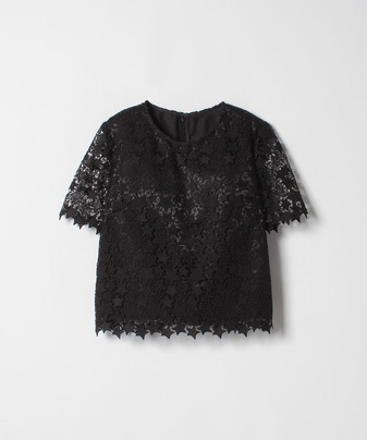 【Loulou Willoughby】【セットアップ対応商品】スターレースTシャツブラウス