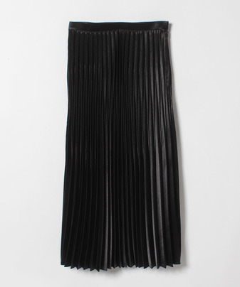 【Loulou Willoughby】ニッケルサテンアコーディオンプリーツスカート