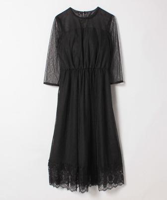 シアーレースドレス