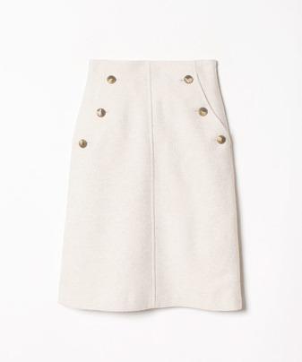ブークレーハイウエストボタンスカート