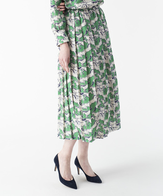 【セットアップ対応商品】【Loulou Willoughby】ドローイングホースプリーツスカート