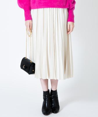 【LoulouWilloughby】フェイクスウェードプリーツスカート