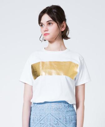 ホイルボーダーTシャツ