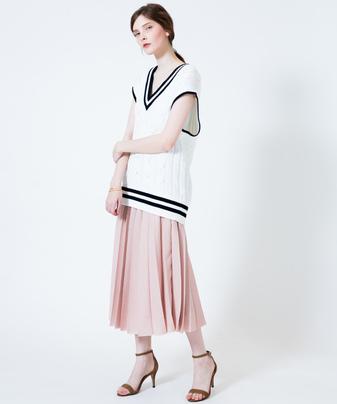 【otona MUSE 6月号掲載商品】リングベルトプリーツスカート