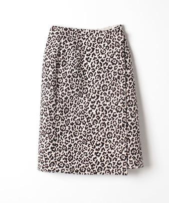 レオパードジャガードラップスカート