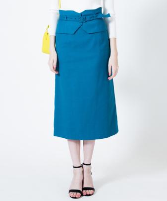カマーベルト付セミタイトスカート