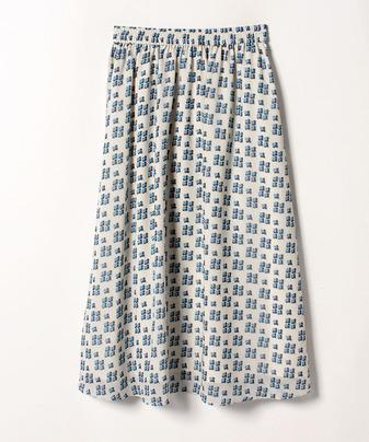 【セットアップ対応商品】【Loulou Willoughby】幾何フラワーギャザースカート