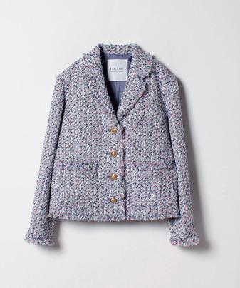 【セットアップ対応商品】【Loulou Willoughby】フラッグモールファンシーツイードジャケット