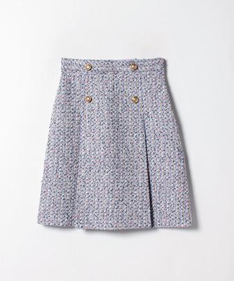 【セットアップ対応商品】【Loulou Willoughby】フラッグモールファンシーツイードスカート