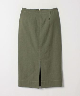 ★ステッチワークリネンタイトスカート