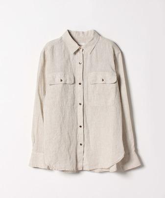 グロッシーGDボタンリネンシャツ