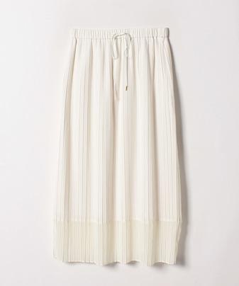 シフォンヘムプリーツスカート