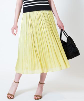 ★プラチナ割繊サテンギャザースカート