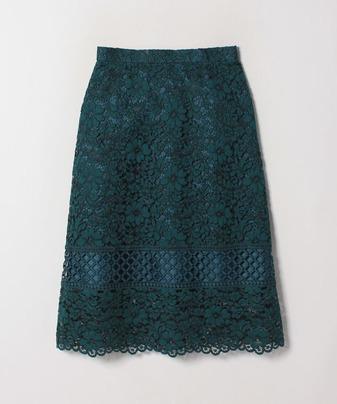 カラーコードレースミディスカート