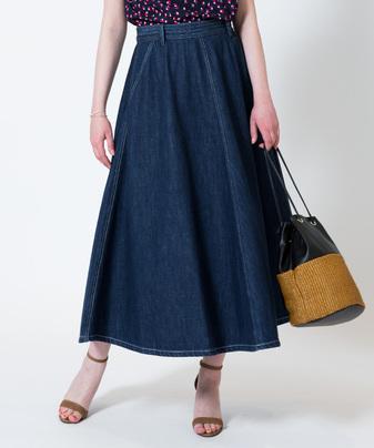 【セットアップ対応商品】デニムサーキュラースカート
