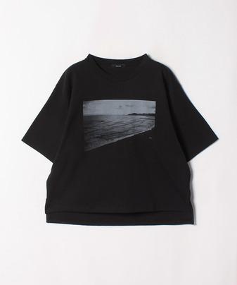 フォトプリントオーバーシルエットTシャツ