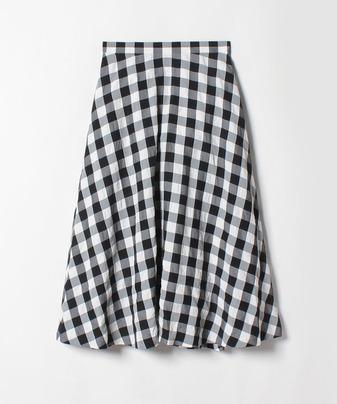 【セットアップ対応商品】【Loulou Willoughby】ギンガムチェックフレアスカート