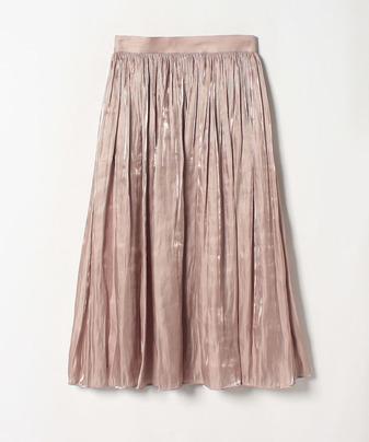 プラチナ割繊サテンギャザースカート