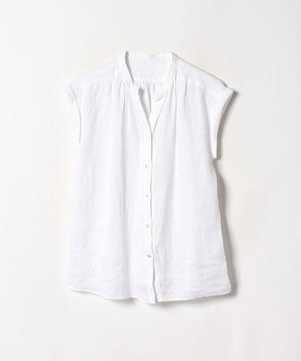 リネンスタンドギャザーシャツ