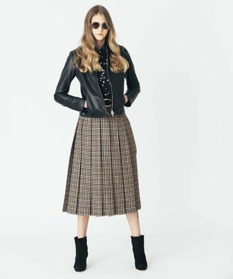 ミラノチェックプリーツスカート
