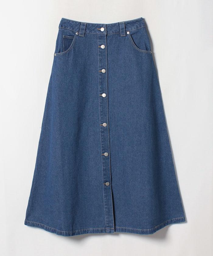 デニムフロントボタンスカート