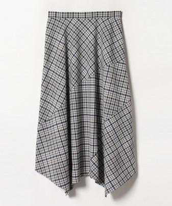 ドライチェックアシメスカート