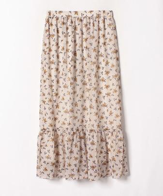 【セットアップ対応商品】楊柳フラワーポイントギャザースカート