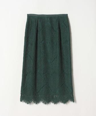 ウエーブボーダーレースタイトスカート