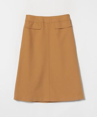 ウールライクフラップAラインスカート